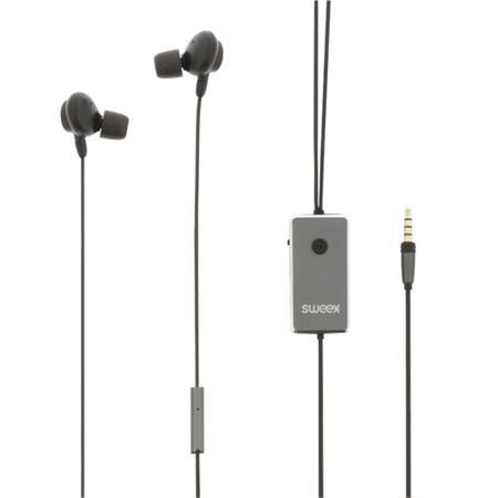Sweex SWANCHS100GY - sluchátka do uší s Active Noise Canceling, mikrofon, antrac