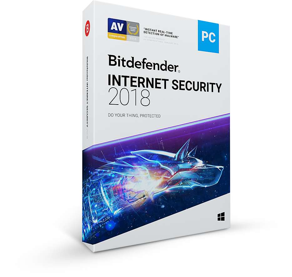 Bitdefender Internet Security 2018  1 uživatel na 3 roky