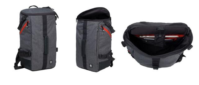 Crumpler Track Jack Barrel Backpack - white grey