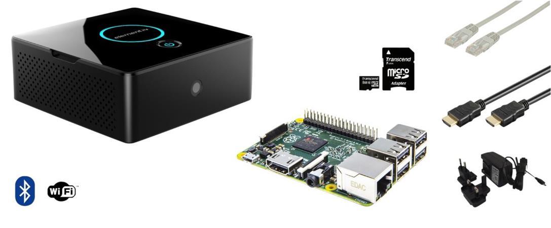 Raspberry Pi 3 Essentials Kit, 64 bit, WiFi, Bluetooth, RTC, mSATA + software