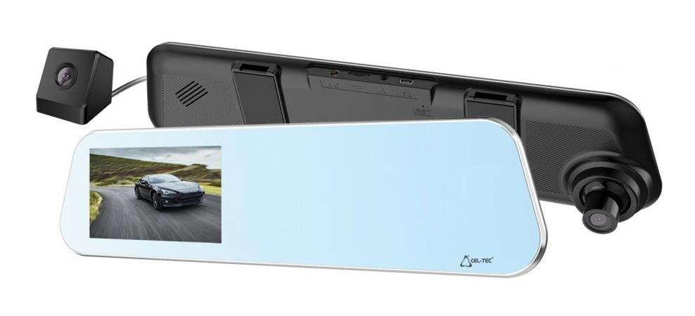 CEL-TEC M5 DUAL TOUCH - duální palubní kamera ve zpětném zrcátku, Full HD, micro