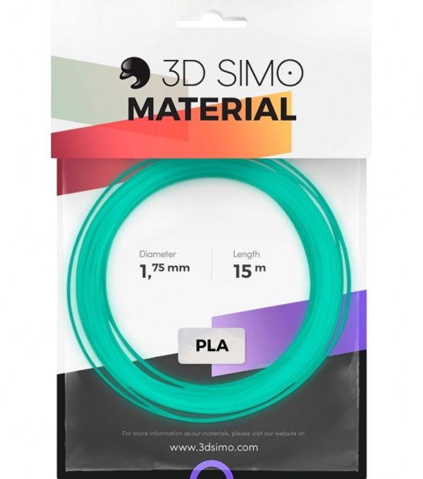 3DSimo Filament FLUORESCENT modrý, zelený 15m