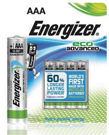 Energizer EN-53541069300 - Alkalická Baterie AAA 1.5 V Eco Advanced, 4 kusy