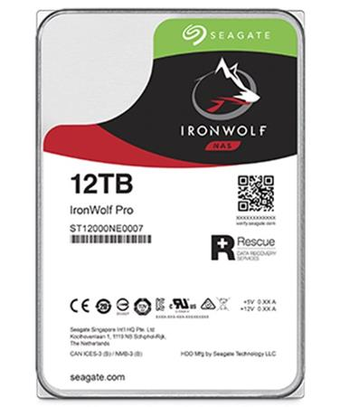 "Seagate IronWolf PRO, NAS HDD, 12TB, 3.5"", SATAIII, 256MB cache, 7.200RPM"
