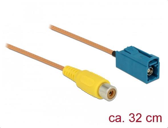 Delock Kabel FAKRA Z samice > RCA samice RG-179 32 cm