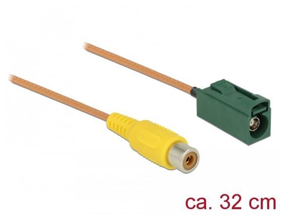 Delock Kabel FAKRA E samice > RCA samice RG-179 32 cm