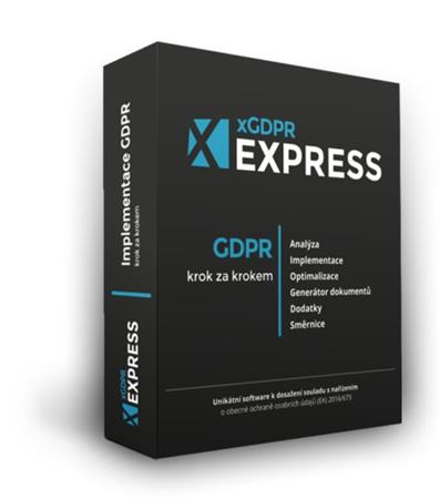 xGDPR Express pro 1 PC a 1 společnost - krabicová verze