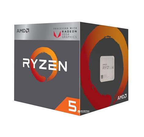AMD cpu Ryzen 5 2400G Box AM4 (4core, 8x vlákno, 3.6GHz / 3.9GHz, 4MB cache, 65W