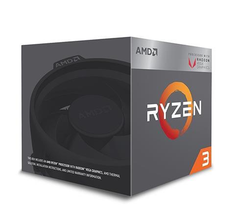 AMD cpu Ryzen 3 2200G Box AM4 (4core, 4x vlákno, 3.5GHz / 3.7GHz, 4MB cache, 65W