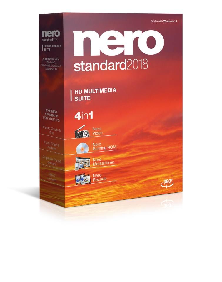 Nero Standard 2018  - CZ - elektronický klíč