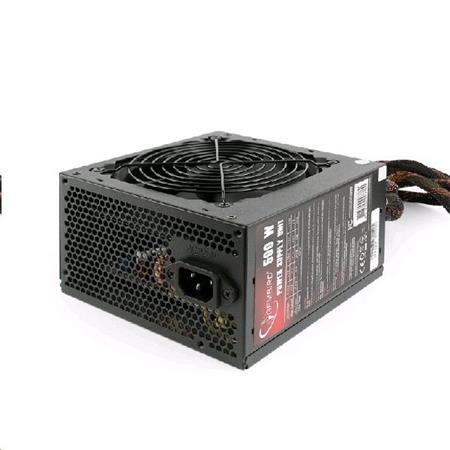 "Zdroj GEMBIRD 500W ATX/BTX, active PFC, 12 cm fan, ""BlackBoxPower"" series, 80+Br"