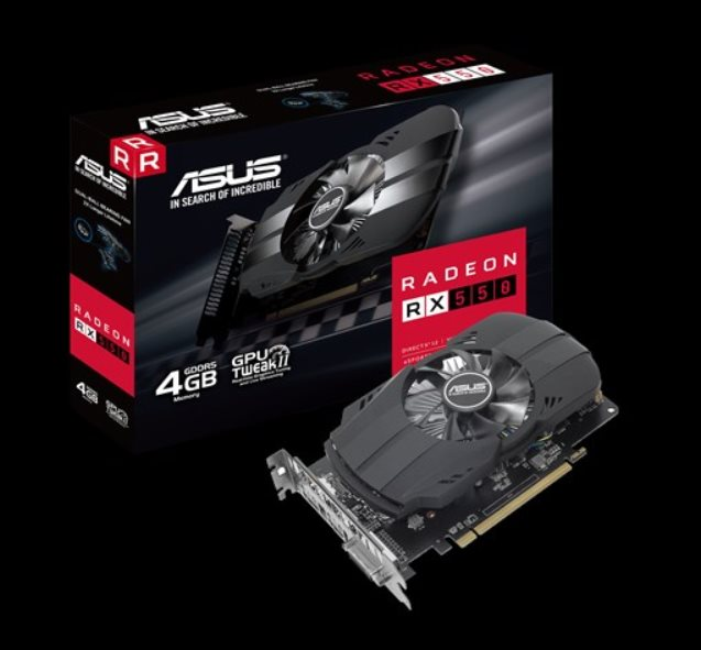 ASUS PH-RX550-4G-M7 4GB GDDR5 (128 bit) ,HDMI, DVI, DP