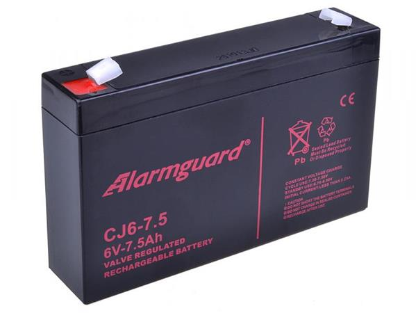 Alarmguard 6V 7,5Ah olověný akumulátor F1 (CJ6-7.5)