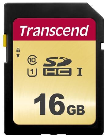 Transcend 16GB SDHC 500S (Class 10) UHS-I U1 (Ultimate) MLC paměťová karta