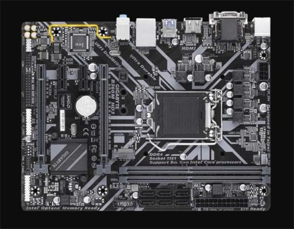 GIGABYTE MB Sc LGA1151 B360M HD3, Intel B360, 2xDDR4, VGA, mATX