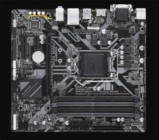 GIGABYTE MB Sc LGA1151 B360M DS3H, Intel B360, 4xDDR4, VGA, mATX