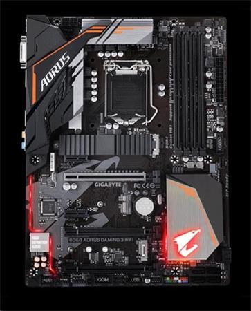 GIGABYTE MB Sc LGA1151 B360 AORUS GAMING 3 WIFI, Intel B360, 4xDDR4, VGA, Intel