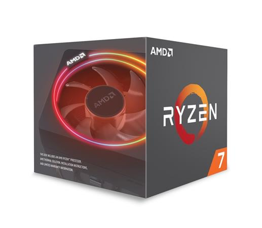 AMD cpu Ryzen 7 2700X Box AM4 (8core, 16x vlákno, 3.7GHz / 4.3GHz, 16MB cache, 1