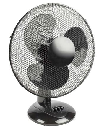 HQ FN16B - Stolní ventilátor 40 cm, plast, 3rychlosti, černá