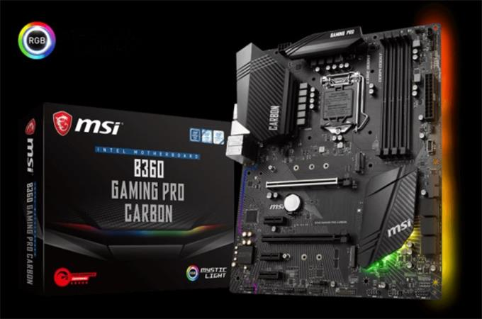 MSI B360 GAMING PRO CARBON 1151, DDR4, 3x PCI-E x1, 6xSATAIII, HDMI, DP, ATX, Bl