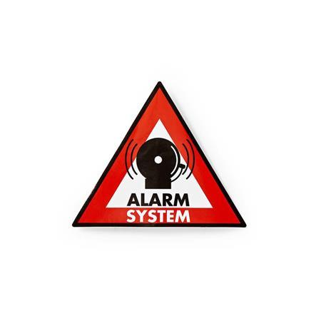 Nedis STCKWA105 - Výstražná Samolepka | Symbol Poplachového systému | Sada 5 kus