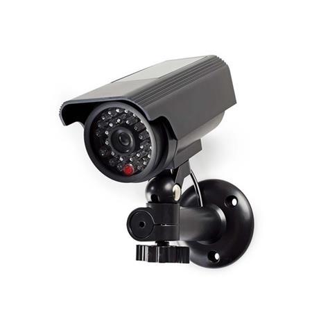 Nedis DUMCBS10BK - Atrapa Bezpečnostní Kamery | Válcové kamery | IP44 | Černá ba
