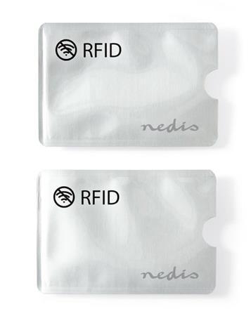 Nedis PRIVRF10AL - ochranné pouzdro bezkontaktních karet, hliník, stříbrná, 2 ku