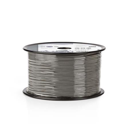 Nedis COTR15000GY100 - Vyvážený Audio Kabel | 2x 0,16 mm2 | 100 m | Cívka | Šedá