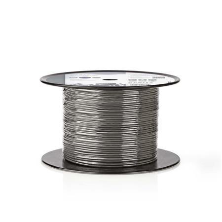 Nedis COTR15001GY100 - Vyvážený Audio Kabel | 2x (2x 0,16 mm2) | 100 m | Cívka |