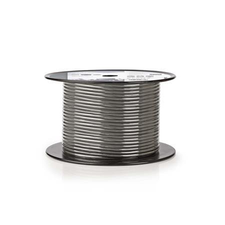Nedis COTR15010GY100 - Kabel k Mikrofonu | 2x 0,23 mm2 | 100 m | Cívka | Šedá ba