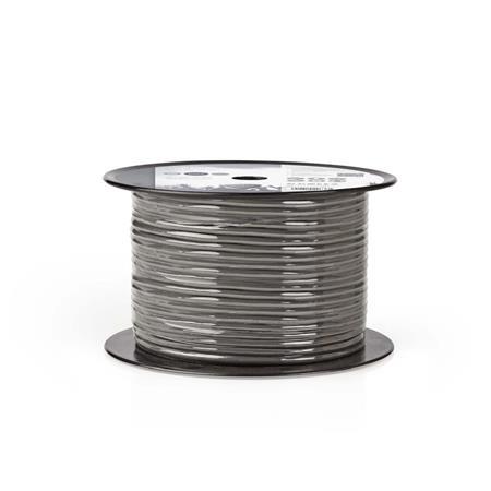 Nedis COTR15020GY100 - DMX Kabel 110 Ohmů | 4x 0,12 mm2 | 100 m | Cívka | Šedá b