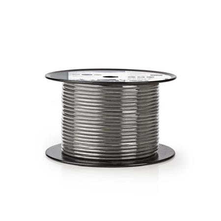 Nedis COTR15021GY100 - DMX Kabel 110 Ohmů | 2x 0,23 mm2 | 100 m | Cívka | Šedá b