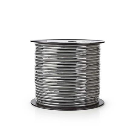 Nedis COTR15031GY100 - Pružný Kabel k Reproduktoru | 2x 2,5 mm2 | 100 m | Cívka