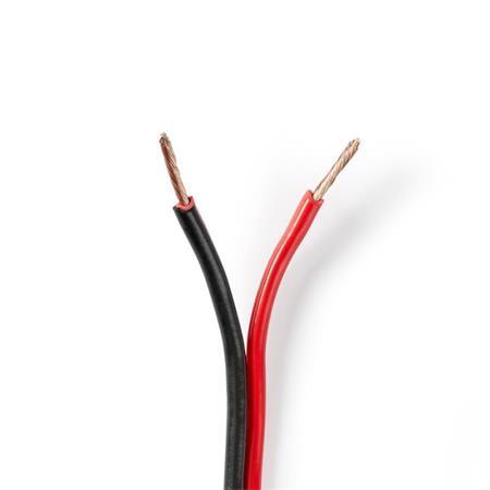 Nedis CAGW1500BK1000 - Kabel Reproduktoru | 2x 1,5 mm2 | 100 m | Páska | Černý/č