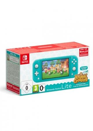 NINTENDO SWITCH CONSOLE LITE TURQUOISE & ANIMAL CROSSING & 3M NSO
