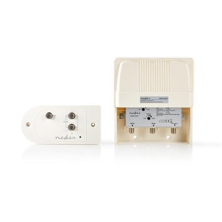 Nedis SAMP100WT - CATV Zesilovač | Zesílení: 25 dB | 174-694 MHz | Počet výstupů